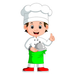 boy chef cartoon vector image vector image
