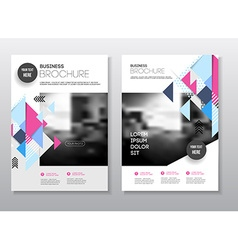 Business presentation with photo and geometric vector image vector image