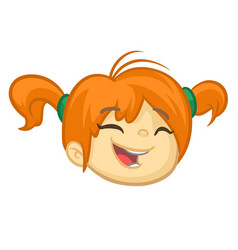 Cartoon small blond girl vector