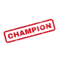 Champion text rubber stamp vector
