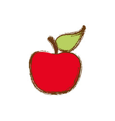 Color apple fruit icon stock vector