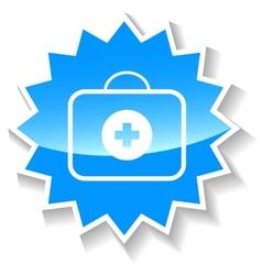 Doctor bag blue icon vector