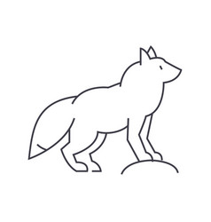 fox line icon sign on vector image vector image