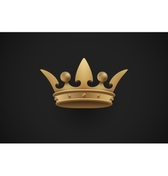 Gold royal crown on a dark black background vector