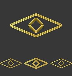 Golden line eye logo design set vector