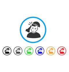 Kickboxer victim rounded icon vector