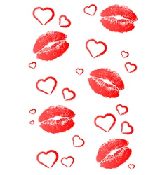 Kisses and Hearts vector image