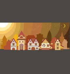 Landscape with european city vector