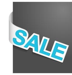 left side sign sale vector image vector image