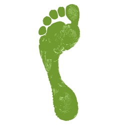 Man footprint vector image vector image
