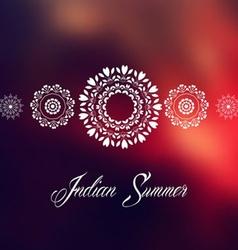 Mandala indian summer design vector