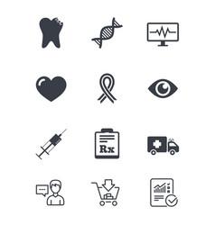 Medicine healthcare and diagnosis icons vector