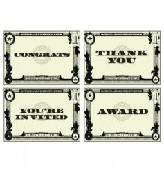 Money certificate vector