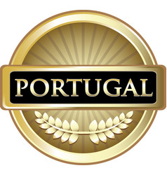 Portugal gold icon vector