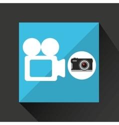 Retro camera photographic record video vector