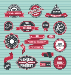 Set of retro label satisfaction guaranteed vector