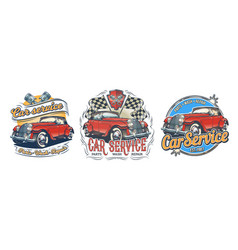 set of vintage badges stickers signage vector image