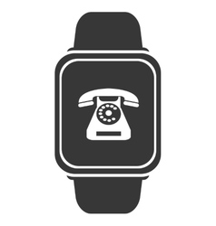 Smart watch with phone icon vector