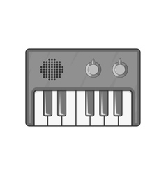 Synth icon black monochrome style vector