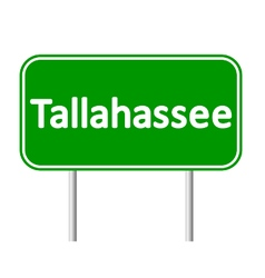 Tallahassee green road sign vector