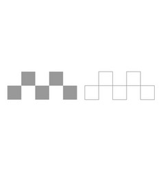 taxi symbol grey set icon vector image vector image