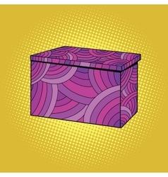 Festive Burgundy gift box vector image