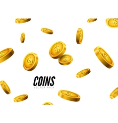 gold coins falling Coin icons realistic design vector image