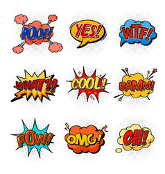 comic speech bubbles for questions and explosion vector image