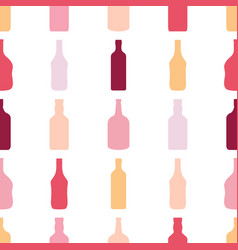 Bottles seamless pattern alcohol rum wine whiskey vector
