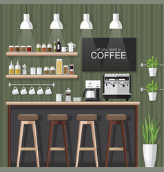 coffee shop vector image