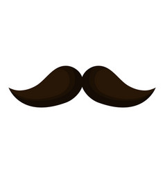 Mustache mexican isolated icon vector