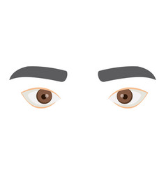 white background with male eyes and eyebrows vector image