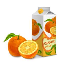 Juice pack orange vector image