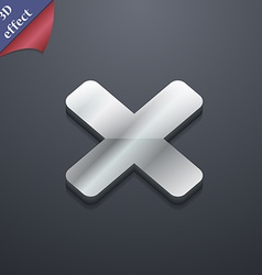 Cancel multiplication icon symbol 3d style trendy vector