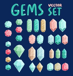 Gemstones collection vector