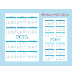 Templates for calendars pocket calendars and vector