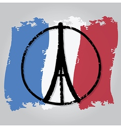 Peace for paris 3 vector