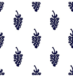 Seamless fruits pattern with closeup berries vector