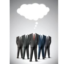 Headless business men vector image