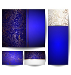 Blue backdrop template set vector