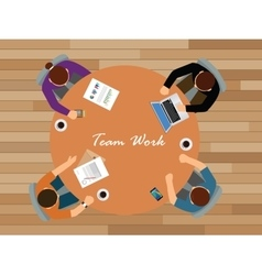 team work team work together view from top vector image
