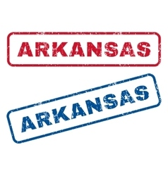 Arkansas rubber stamps vector