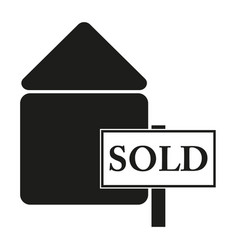 Badge sold sign black icon vector