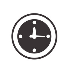 Black clock symbol icon design vector