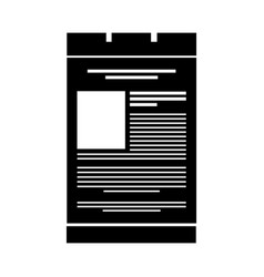 Black icon web tab vector