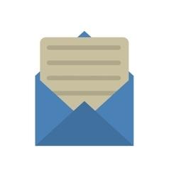 blue envelope paper letter email vector image