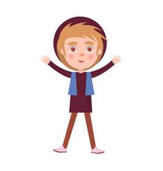 boy celebrates international holiday for kids vector image vector image