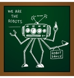 chalk draw robot vector image
