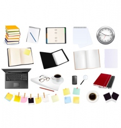 collection of business elements copy vector image vector image