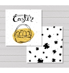 Colorful printable cards for celebrating easter vector